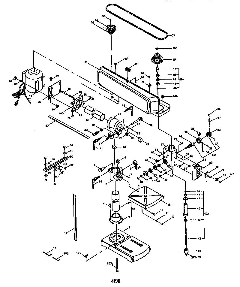 Craftsman model 137280090 drill press genuine parts