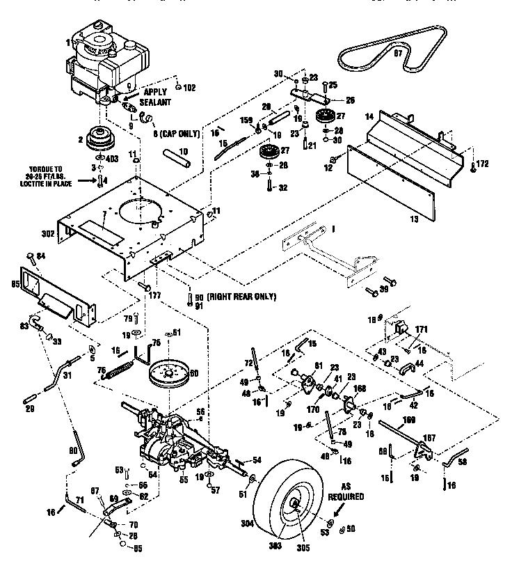Craftsman model 987889000 lawn mower walk behind genuine parts