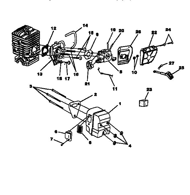 Homelite model UT10773 chainsaw, gas genuine parts