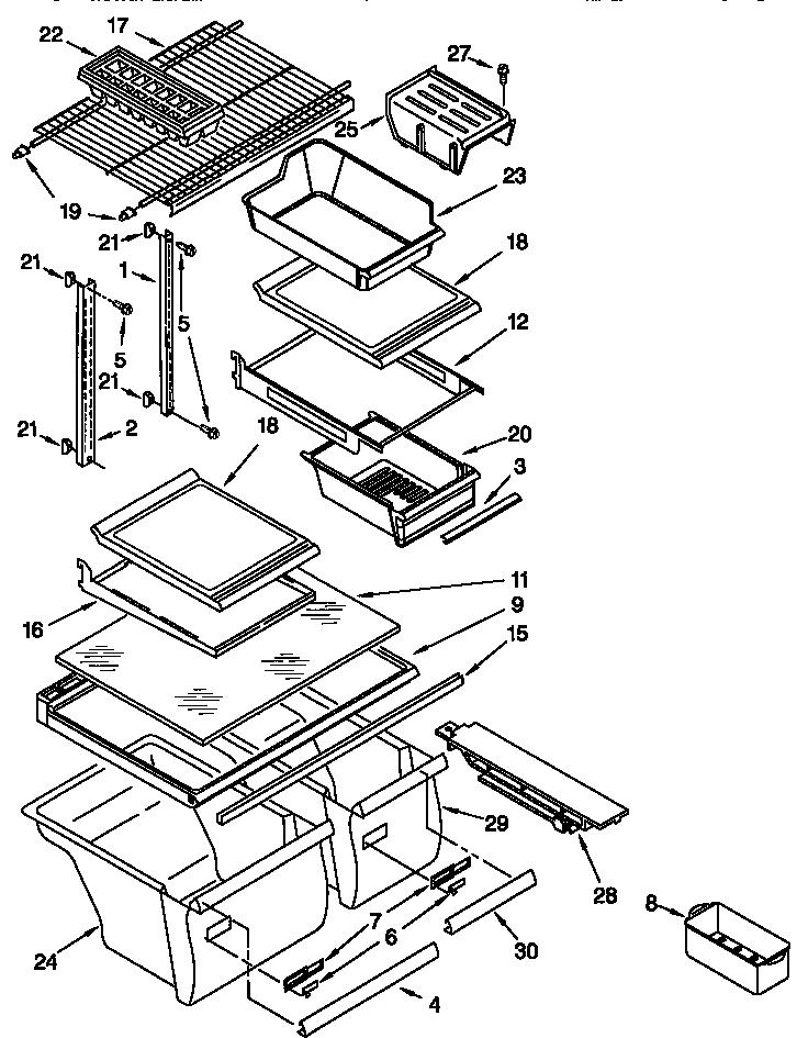 Kenmore model 10677992791 top-mount refrigerator genuine parts