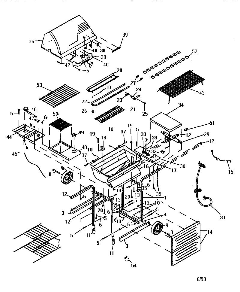 Kenmore model 41515685 grill, gas genuine parts