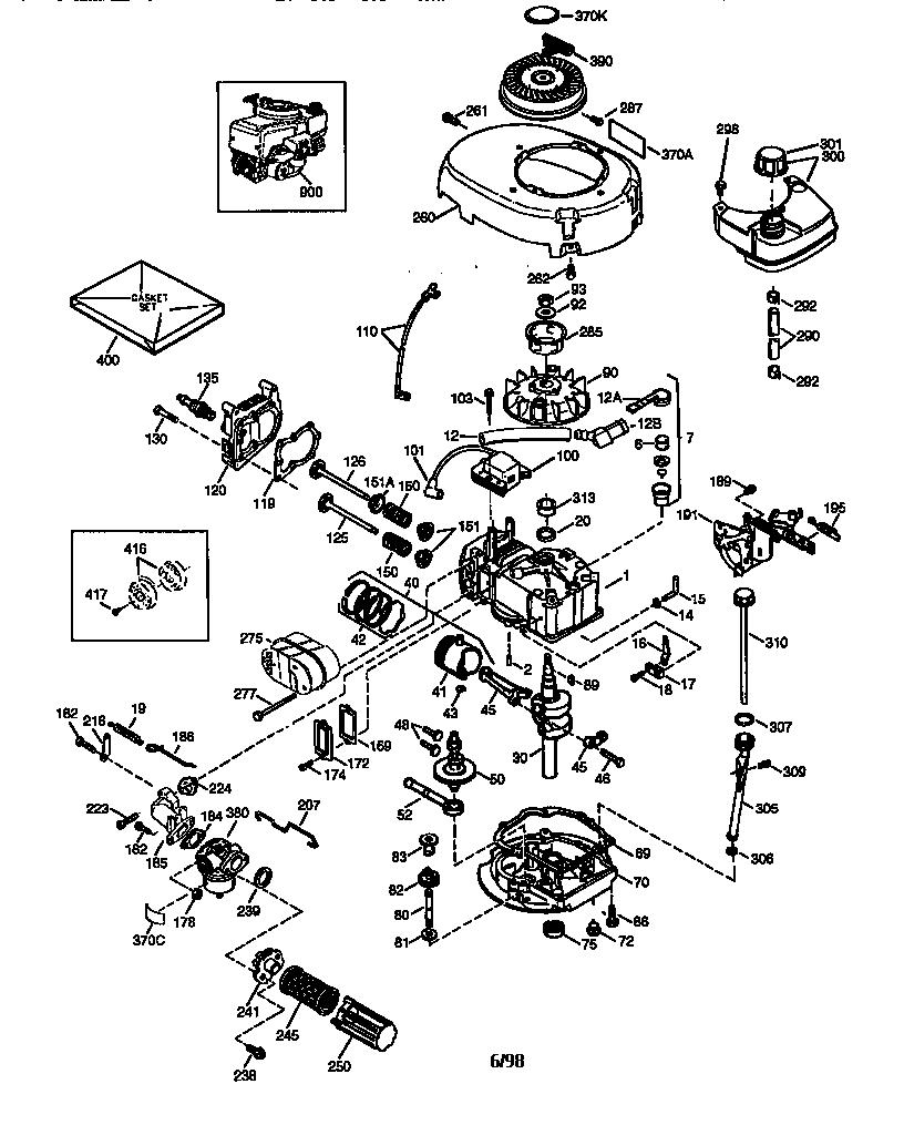 Craftsman model 143984512 engine genuine parts