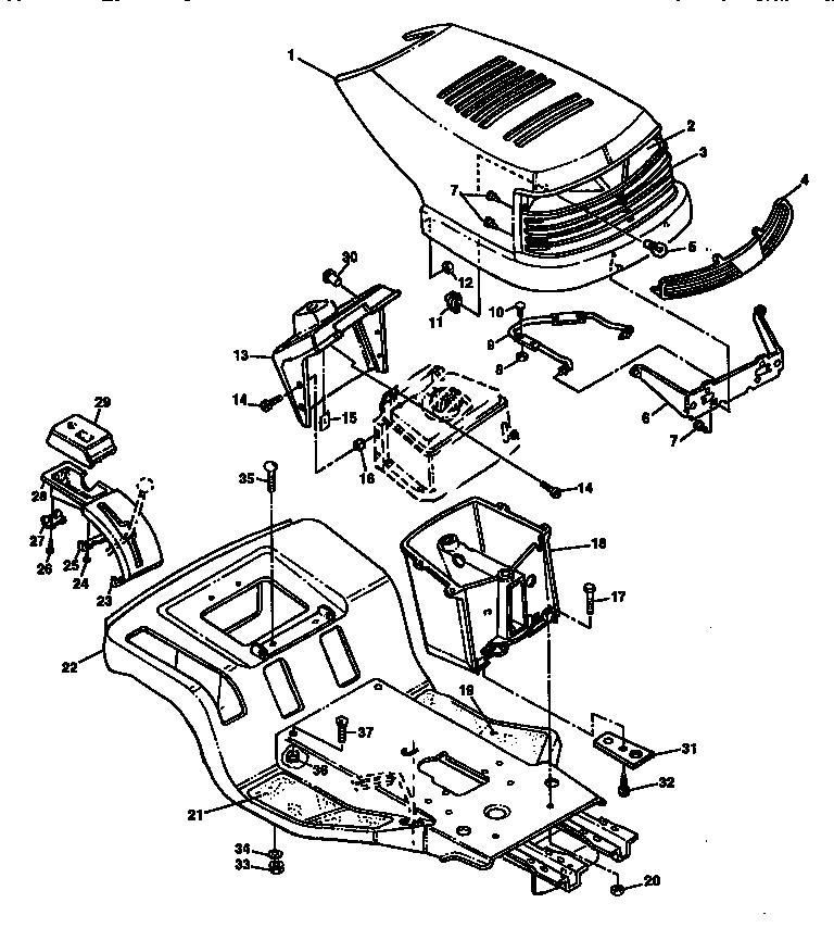 Sabre model 15538H lawn, tractor genuine parts
