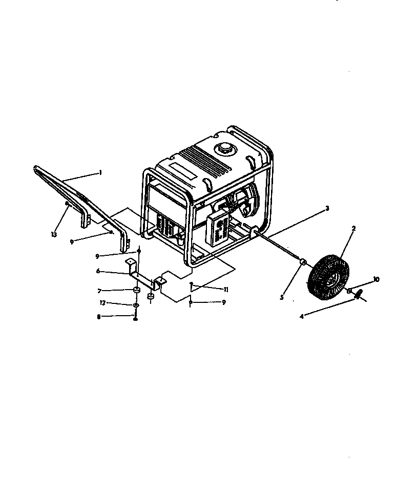 Craftsman model 580327180 generator genuine parts