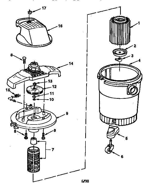 Craftsman model 113177810 wet/dry vacuum genuine parts