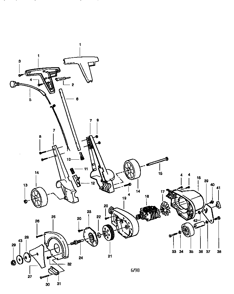 Craftsman model 358796480 edger genuine parts