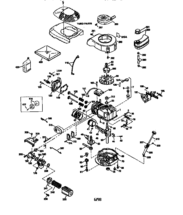 Tecumseh model TVS120-66004A engine genuine parts