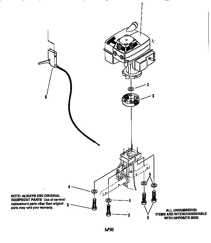 Craftsman model 536797500 cultivator genuine parts
