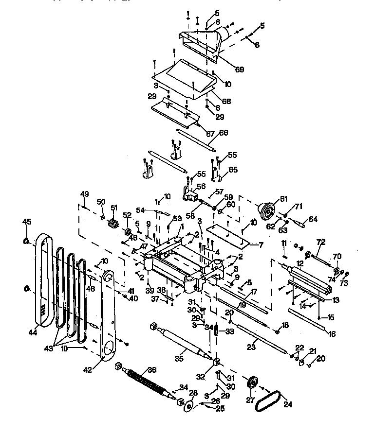 Craftsman model 351233741 planer genuine parts