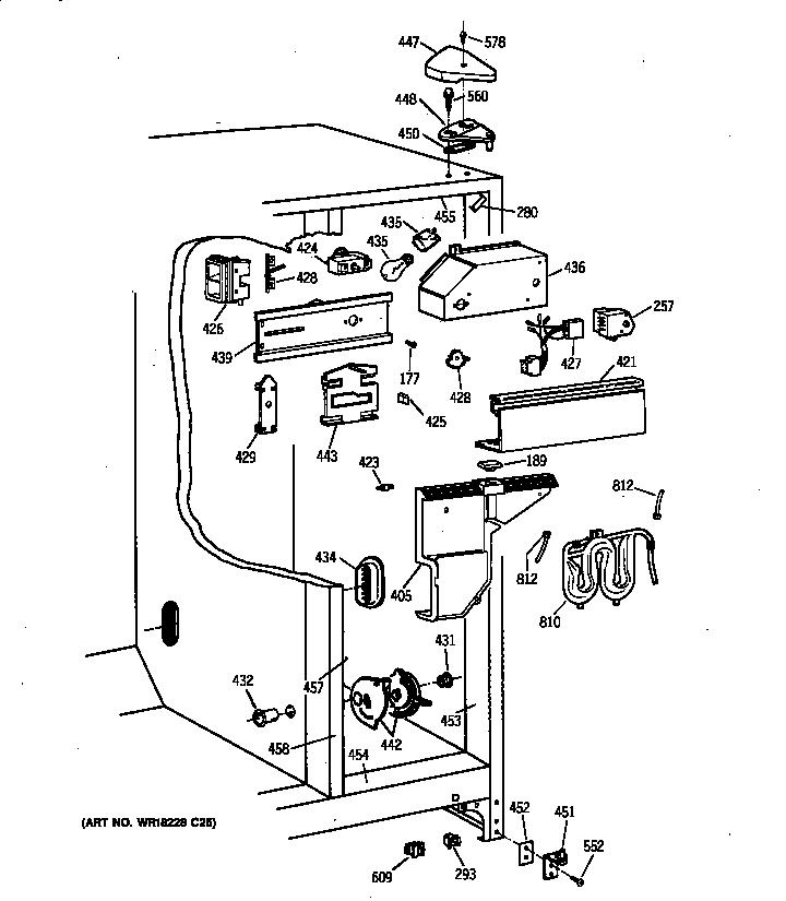 Hotpoint model CSX22GRBAAA side-by-side refrigerator