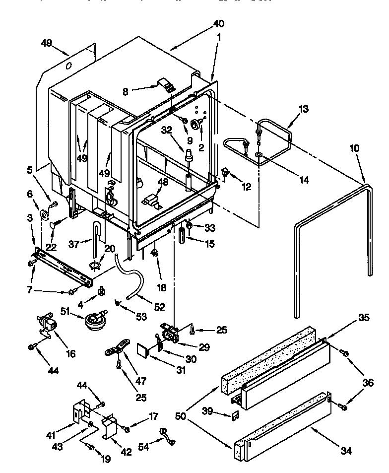 Kenmore model 66515835792 dishwasher genuine parts