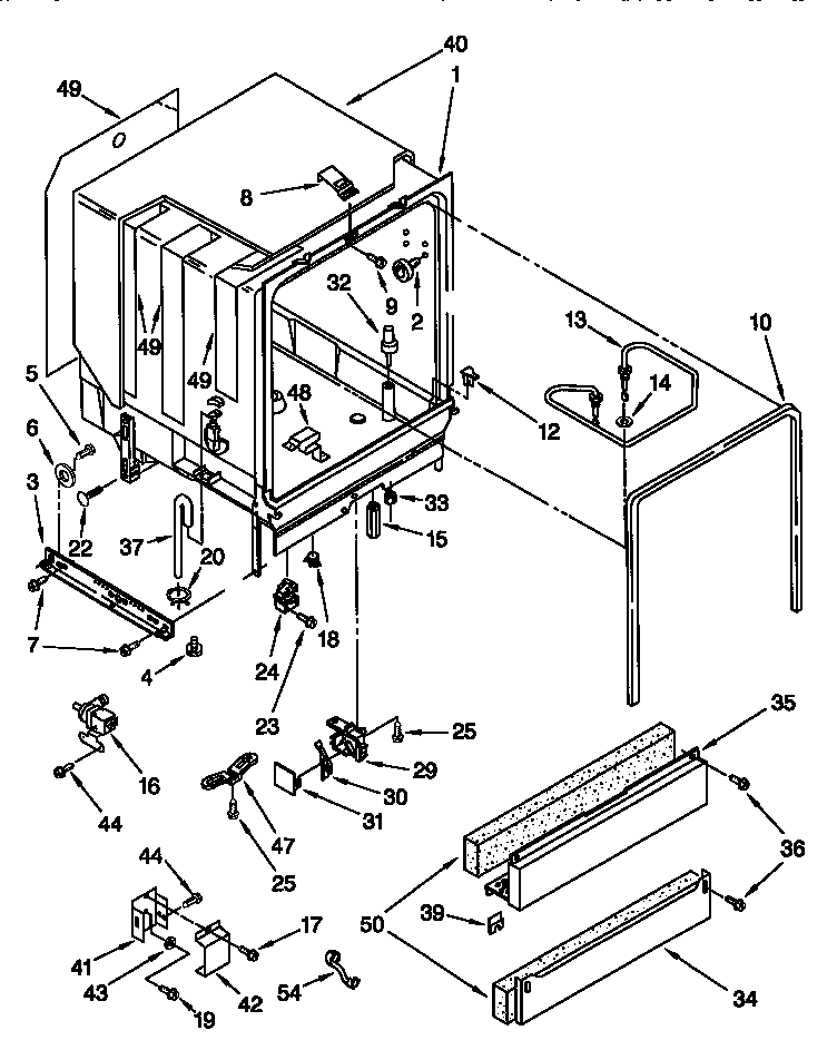 Kenmore model 66517795791 dishwasher genuine parts
