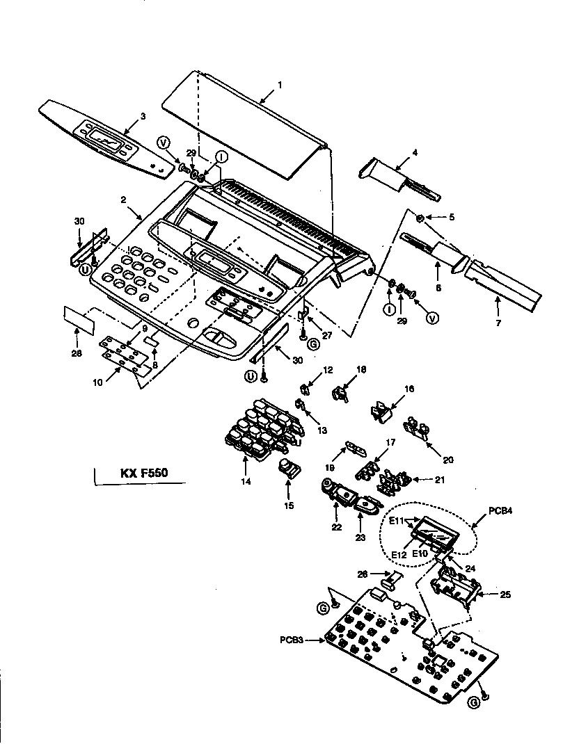 Panasonic model KX-F500 fax machines genuine parts