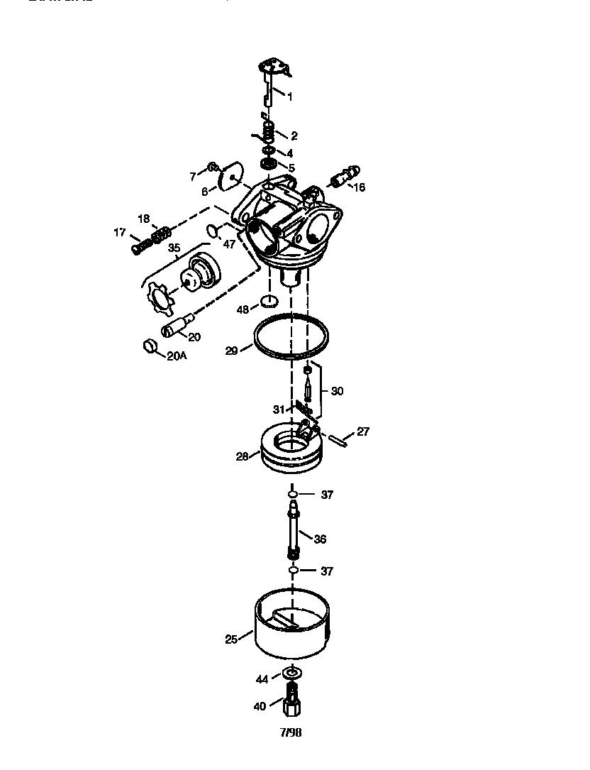 Tecumseh model OHH60-71131C engine genuine parts