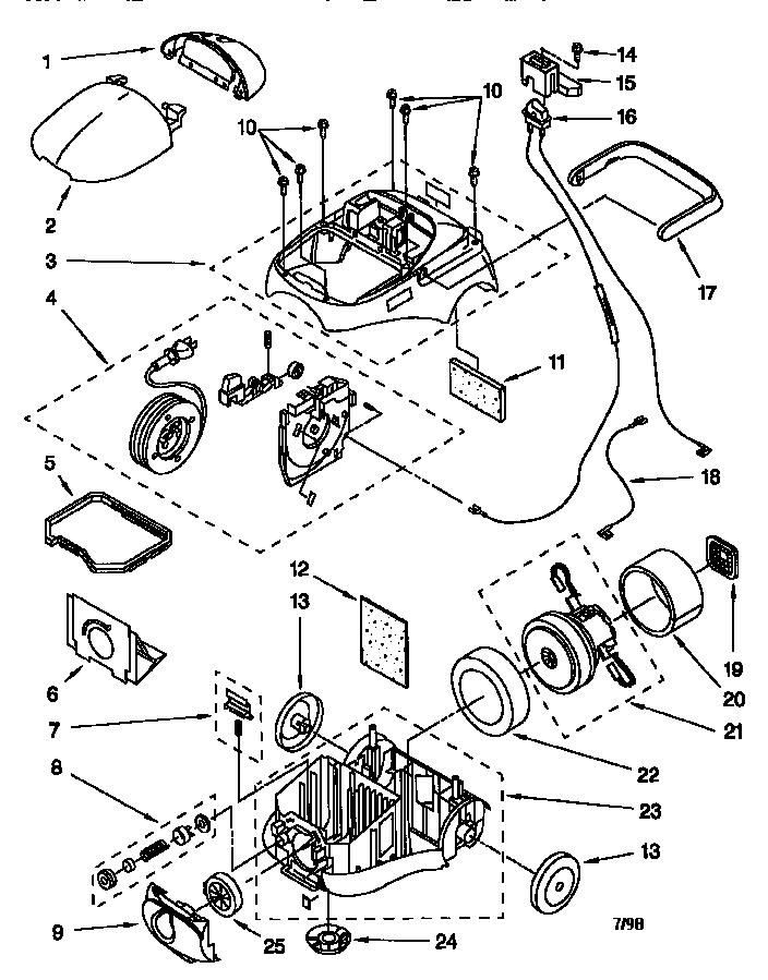 Kenmore model 11628075890 vacuum, upright genuine parts
