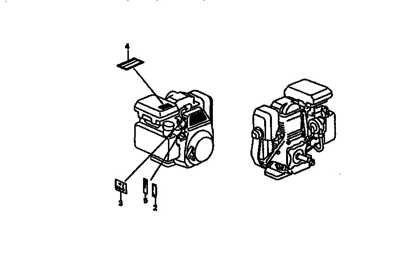 Honda model GC160QHA engine genuine parts