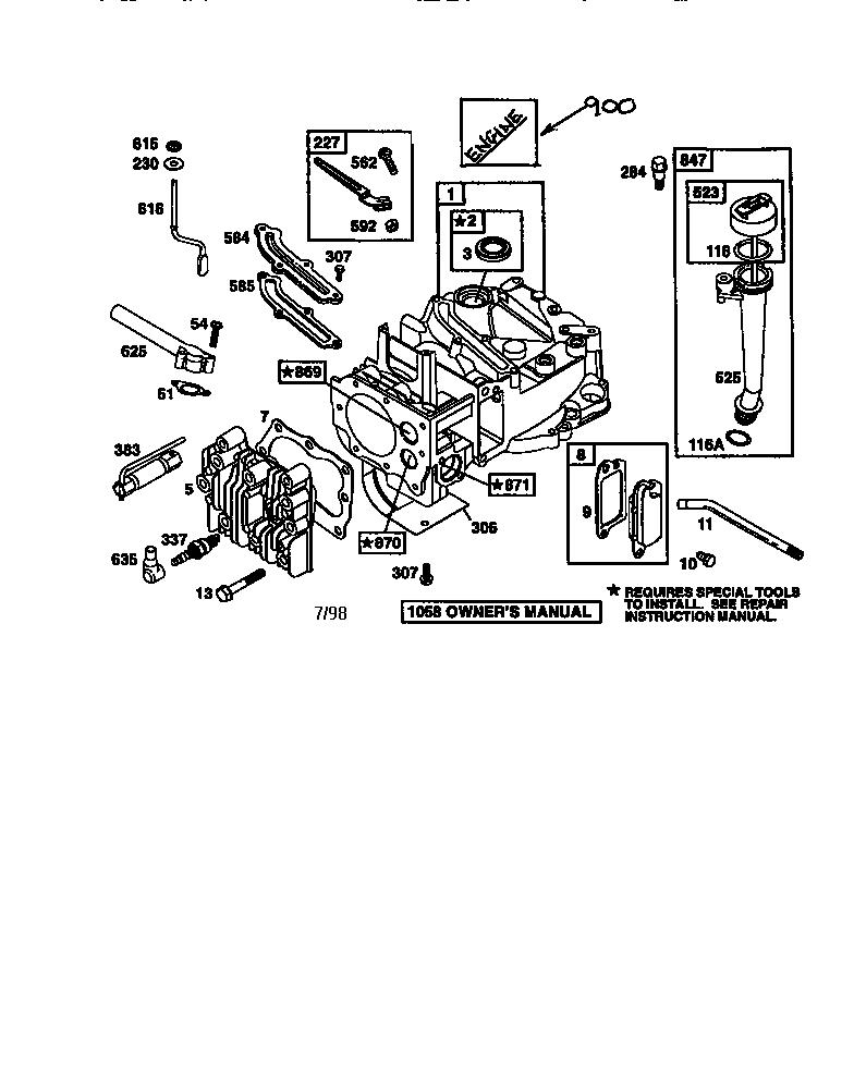 Briggs-Stratton model 12F802-2407-E1 engine genuine parts