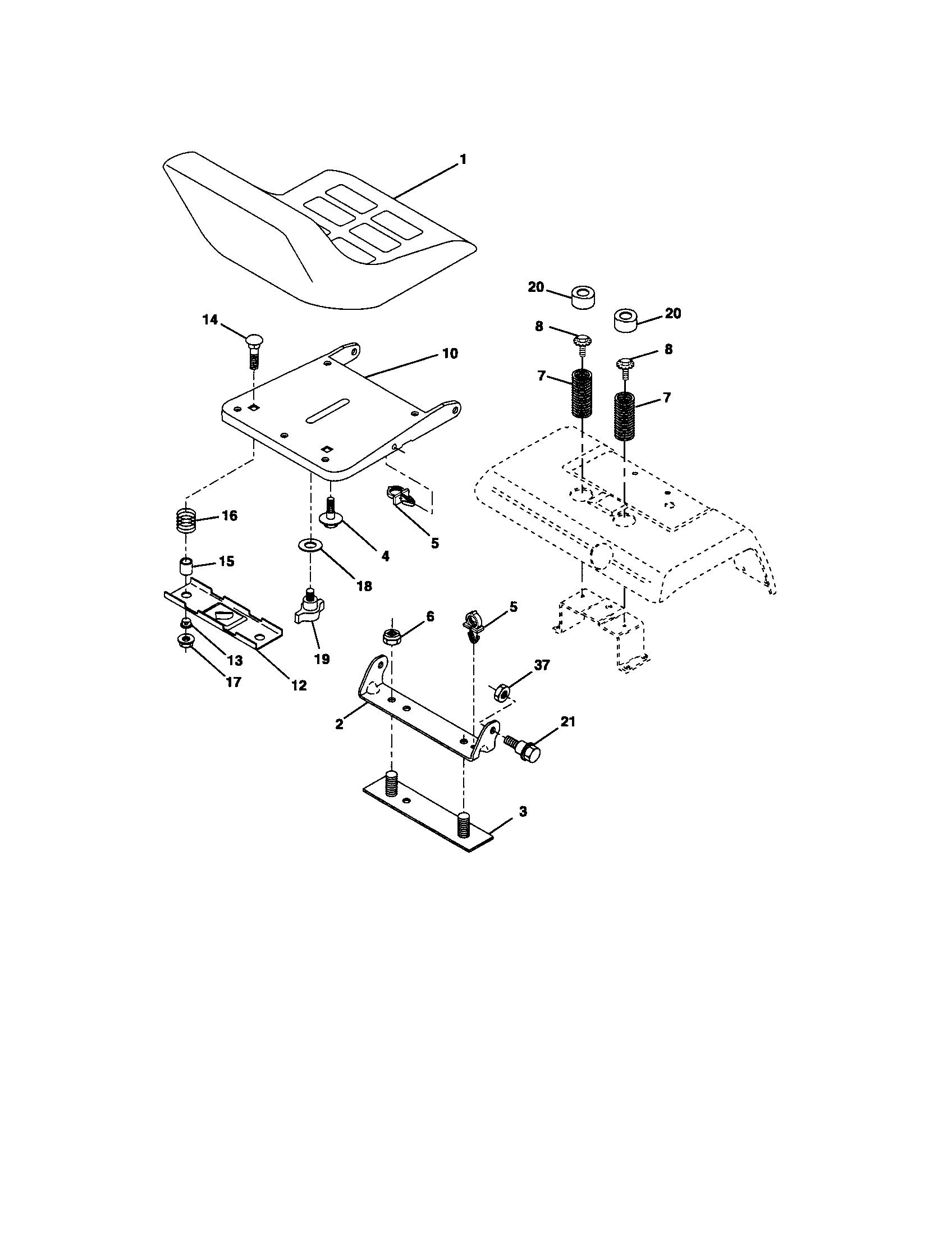 Husqvarna model GT2254 lawn, tractor genuine parts