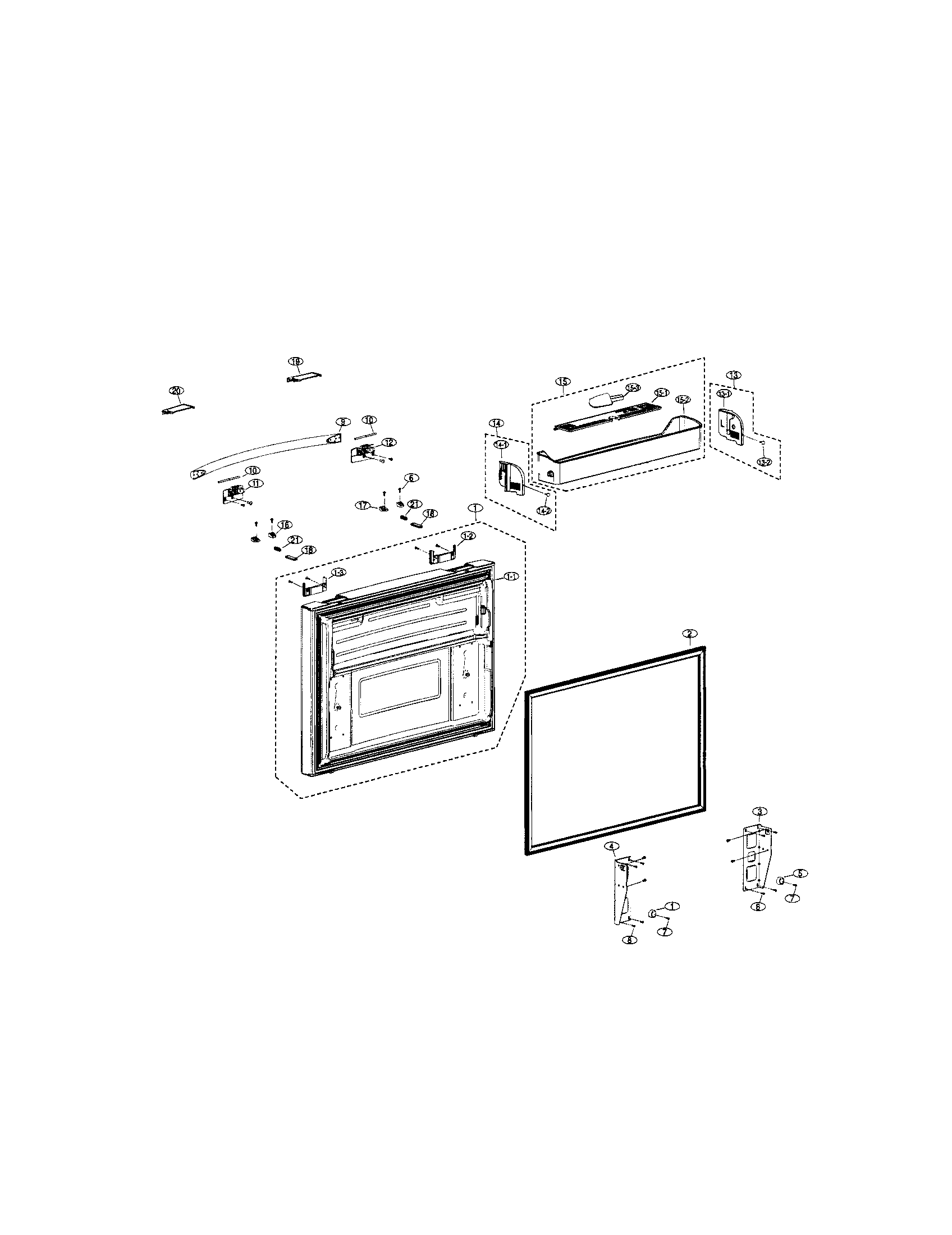 Samsung model RFG298AARS bottom-mount refrigerator genuine