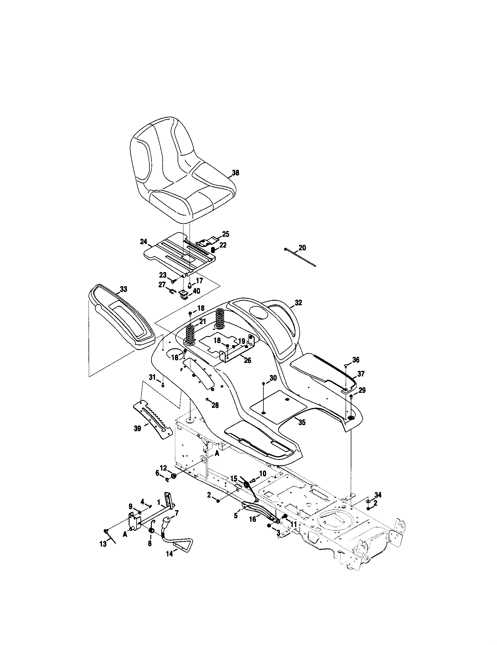 Craftsman model 247289800 lawn, tractor genuine parts