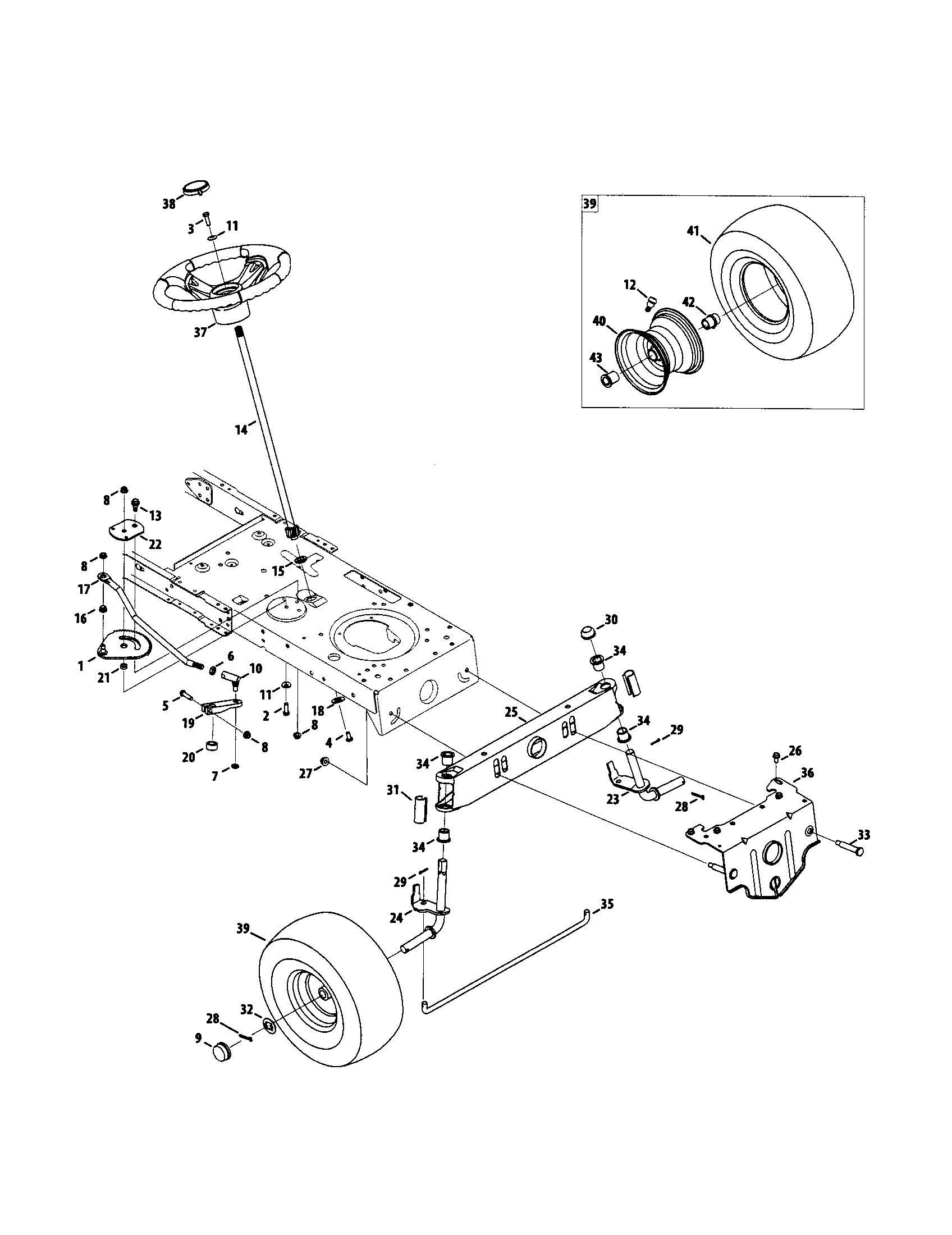 Craftsman model 247289010 lawn, tractor genuine parts