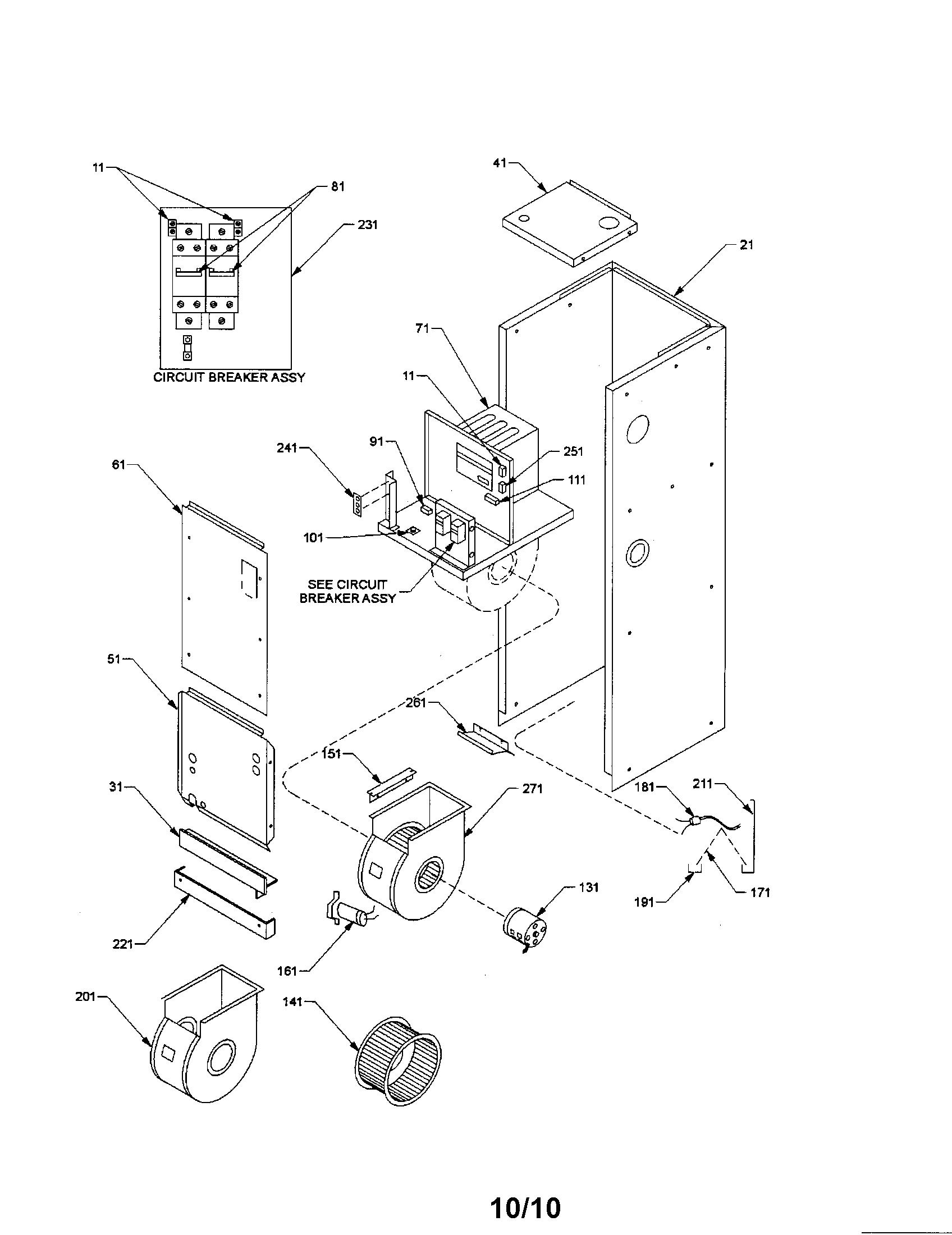 Janitrol model A32-10 air handler (indoor blower&evap