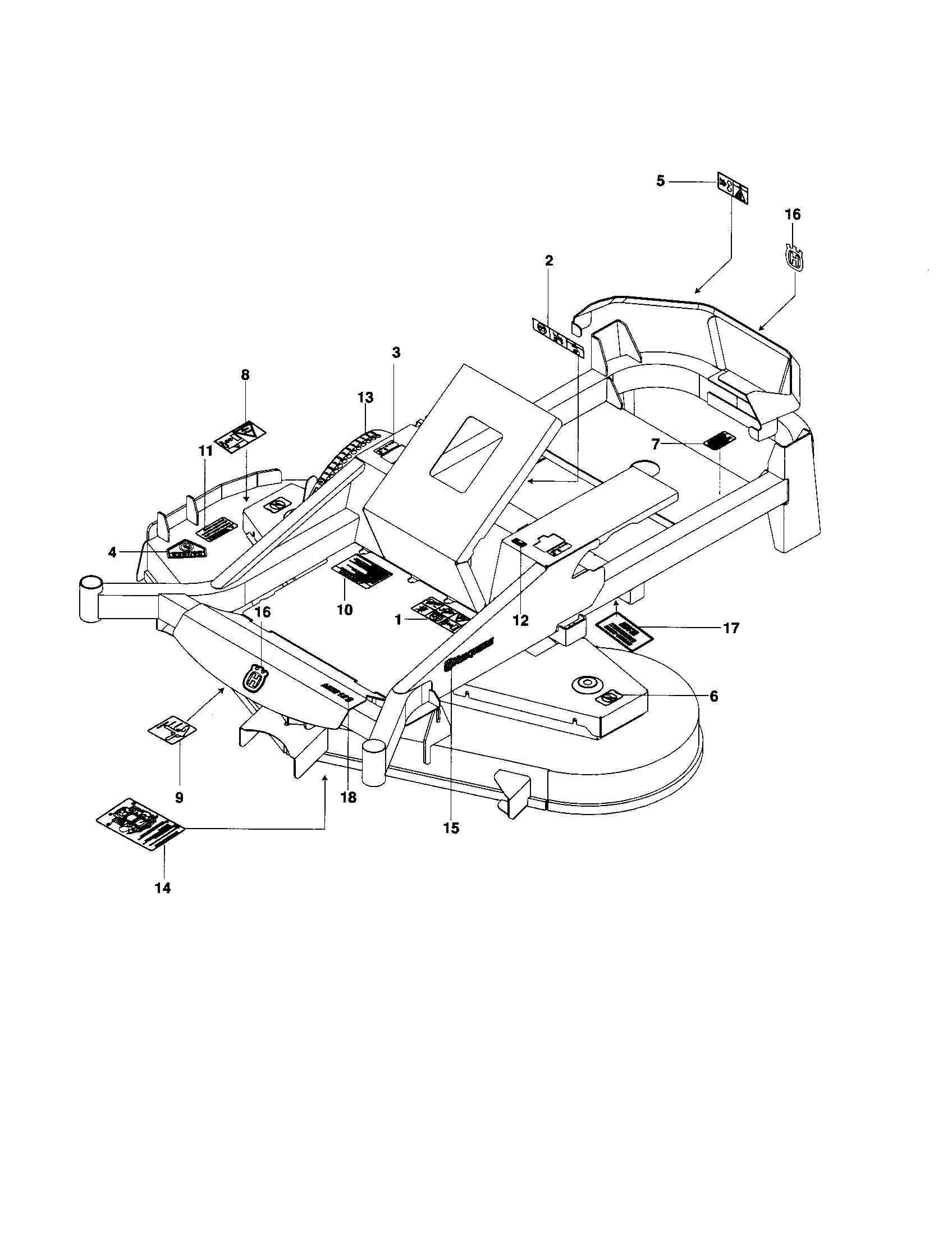 Husqvarna model MZ5225ZT-966690501 lawn, riding mower rear