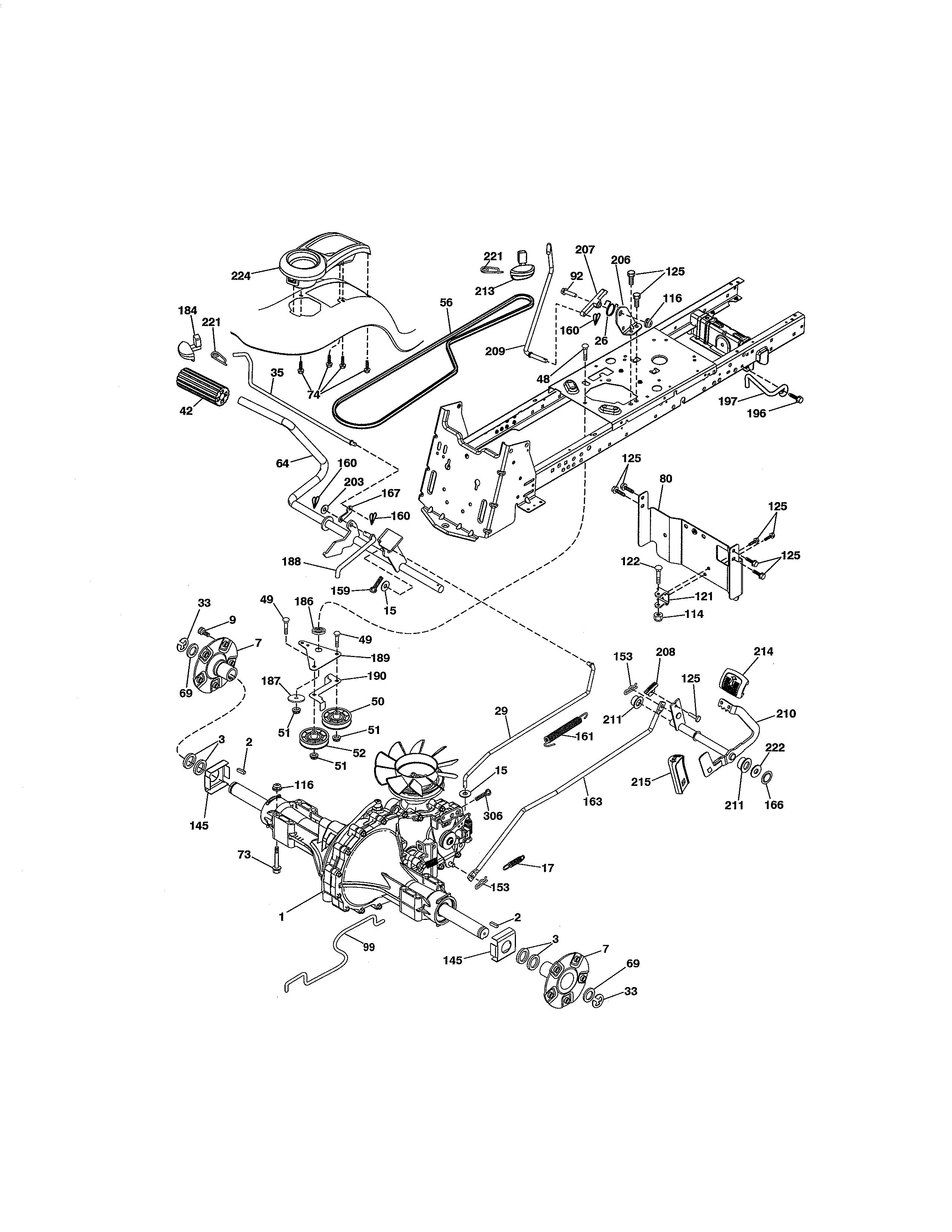 Craftsman model 917288611 lawn, tractor genuine parts