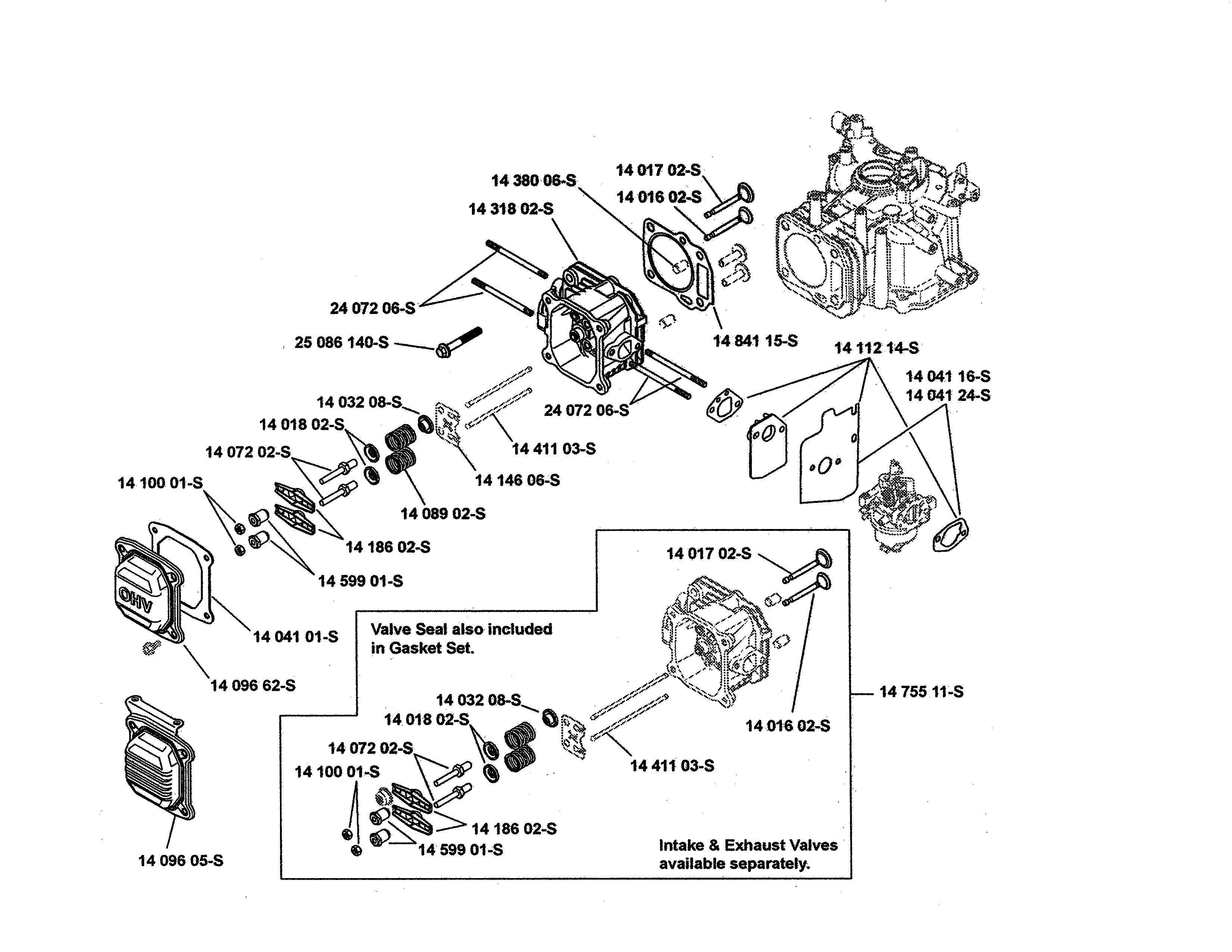 Kohler model XT149-0217-ED engine genuine parts