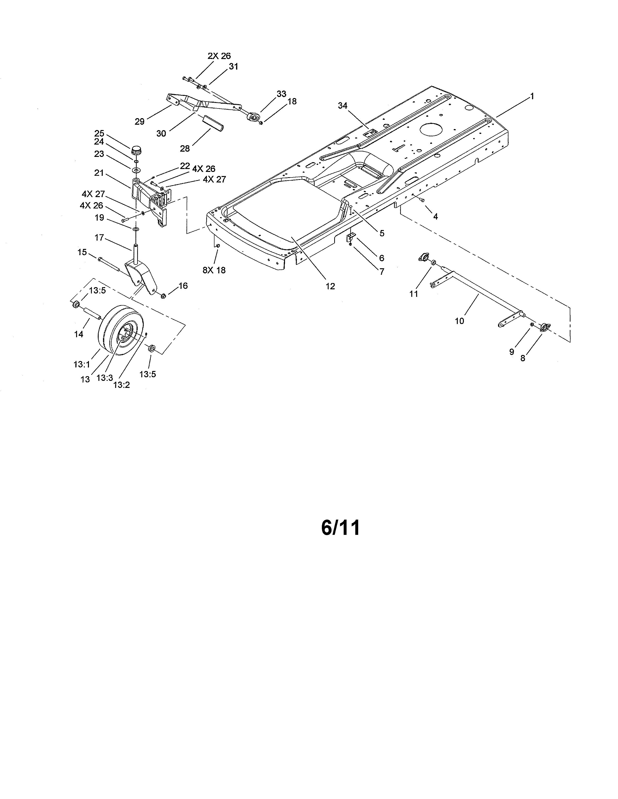 Toro model 74327 (260000001-260019999) lawn, riding mower