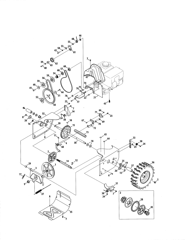 Model 247881722   CRAFTSMAN SNOW THROWER Parts
