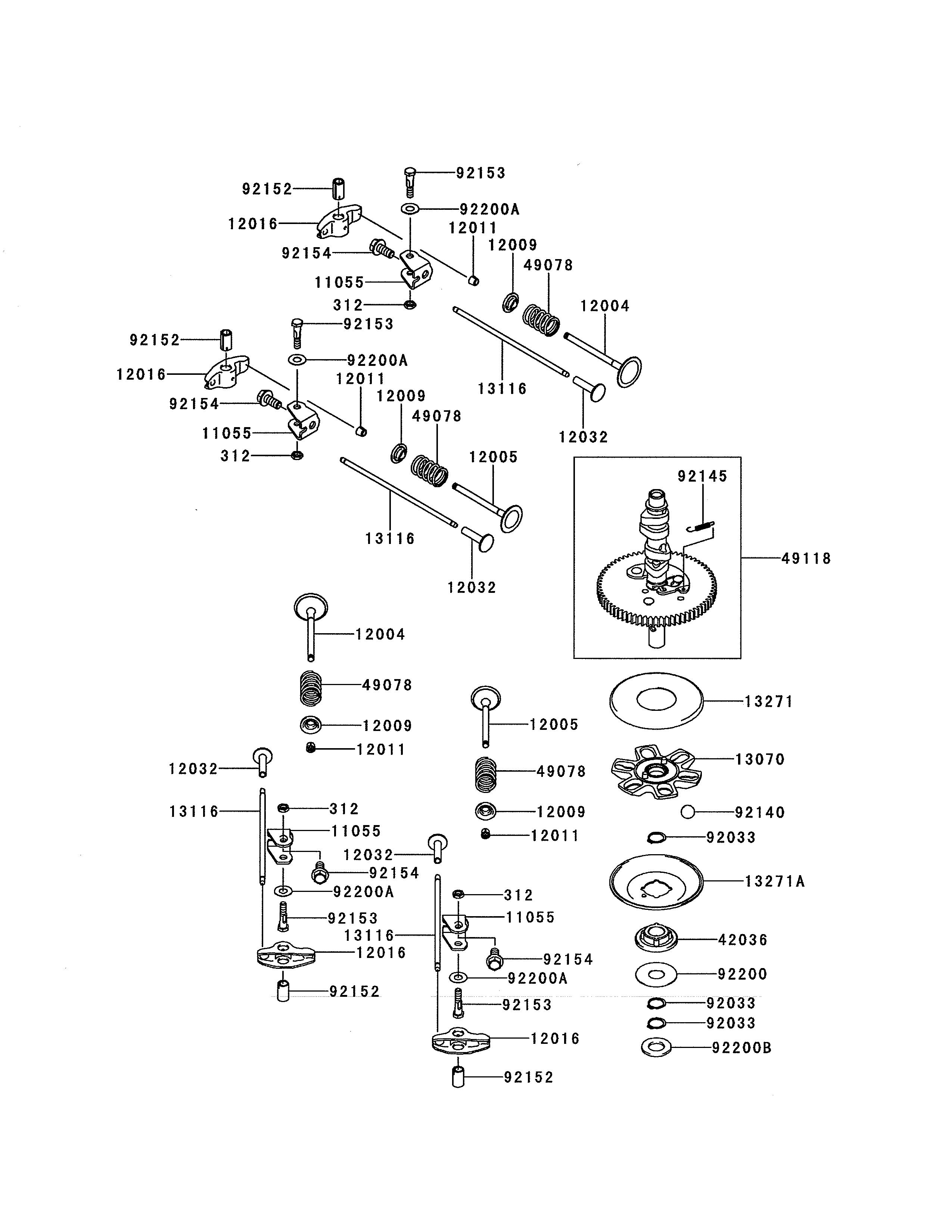 Kawasaki model FR691V-AS29 engine genuine parts