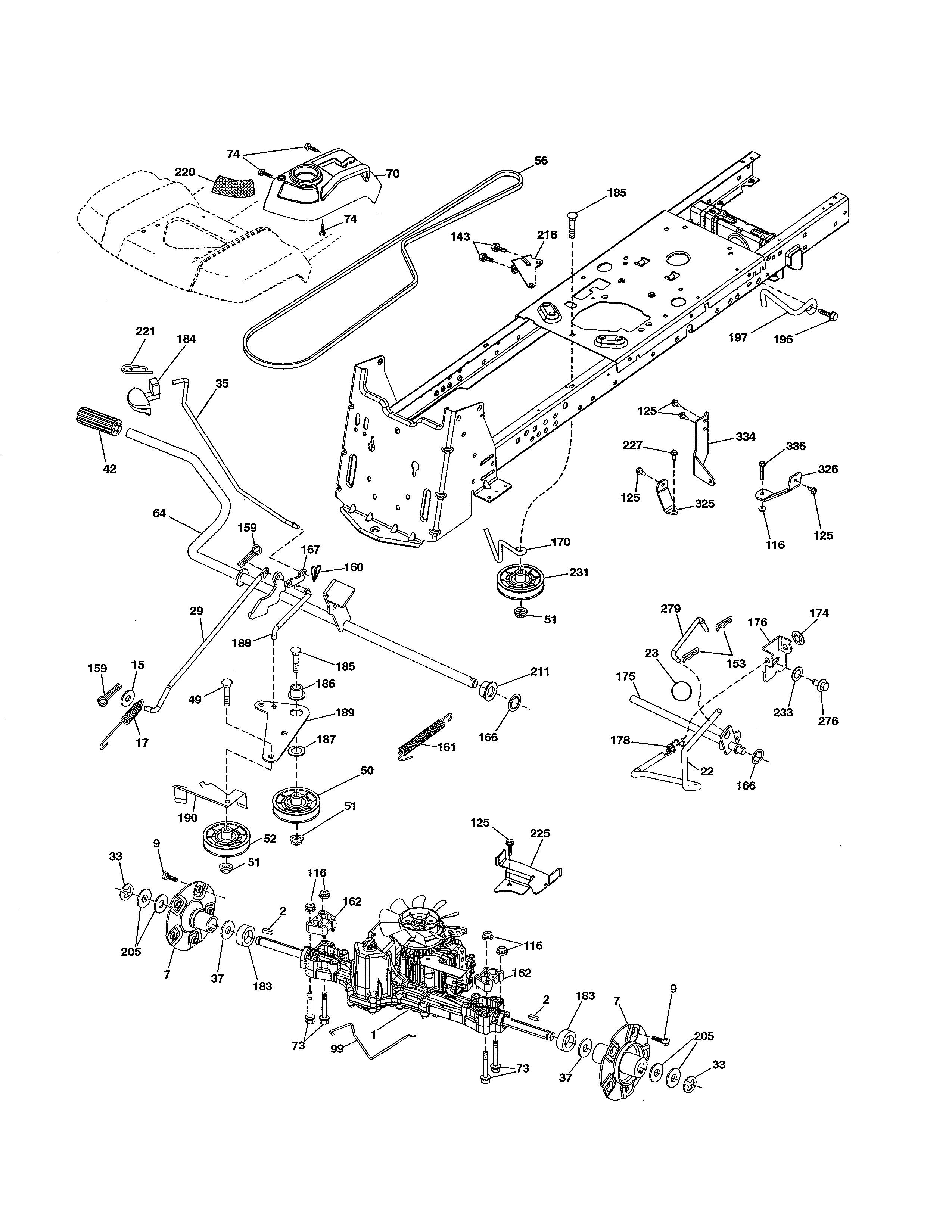 Husqvarna model LGT2654-96045004700 lawn, tractor genuine