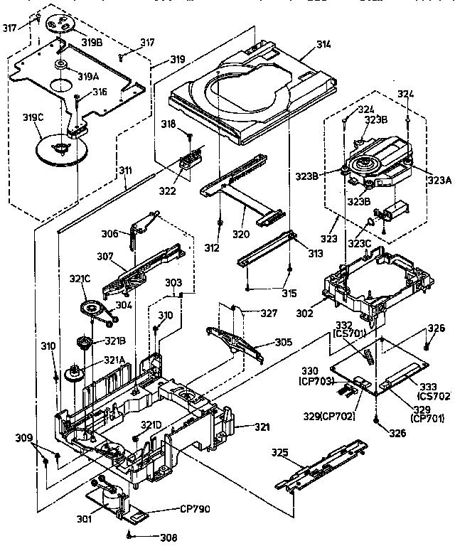 Panasonic model SLPJ316 compact disc genuine parts