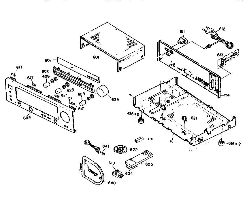 Kenwood model KR-A5030 receivers genuine parts