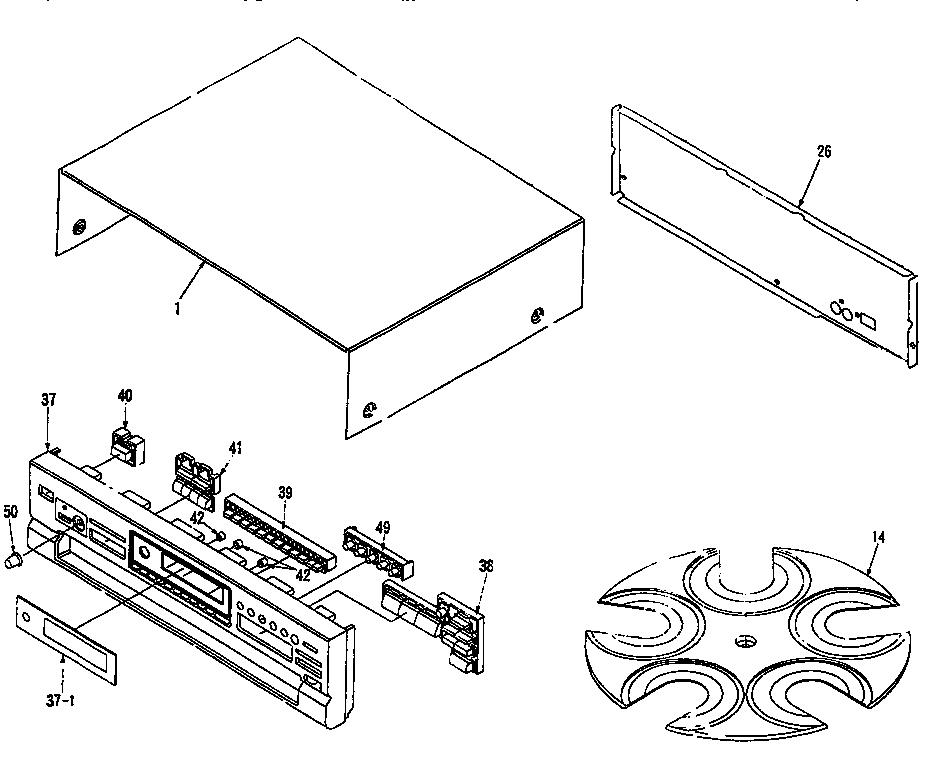 Panasonic model SL-PD987 compact disc genuine parts