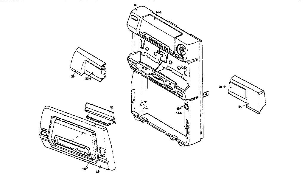 Panasonic model SA-CH94M tabletop systems genuine parts