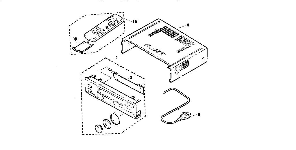 Sony model SLV-685HF vcr genuine parts