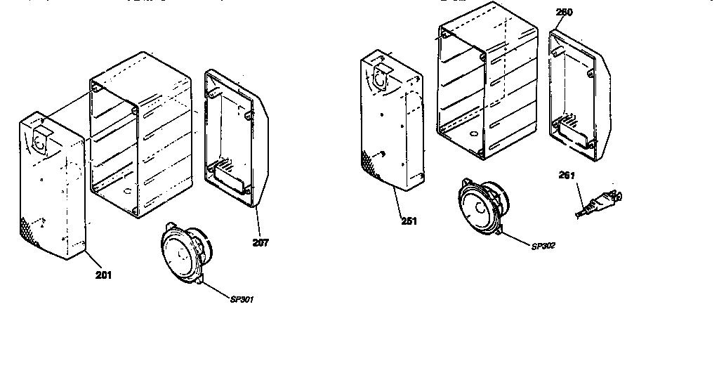 Sony model SA-VA57 speakers genuine parts