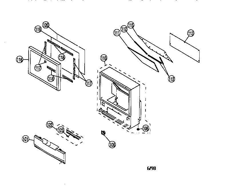 Sony model KP-61S65 projection/digital 42