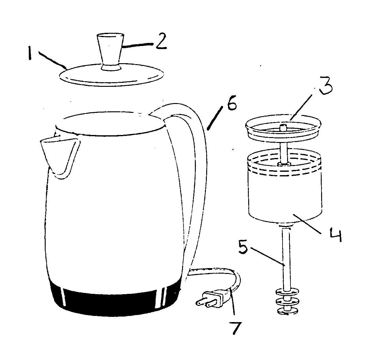 Salton model KCM12BLK coffee/tea maker genuine parts