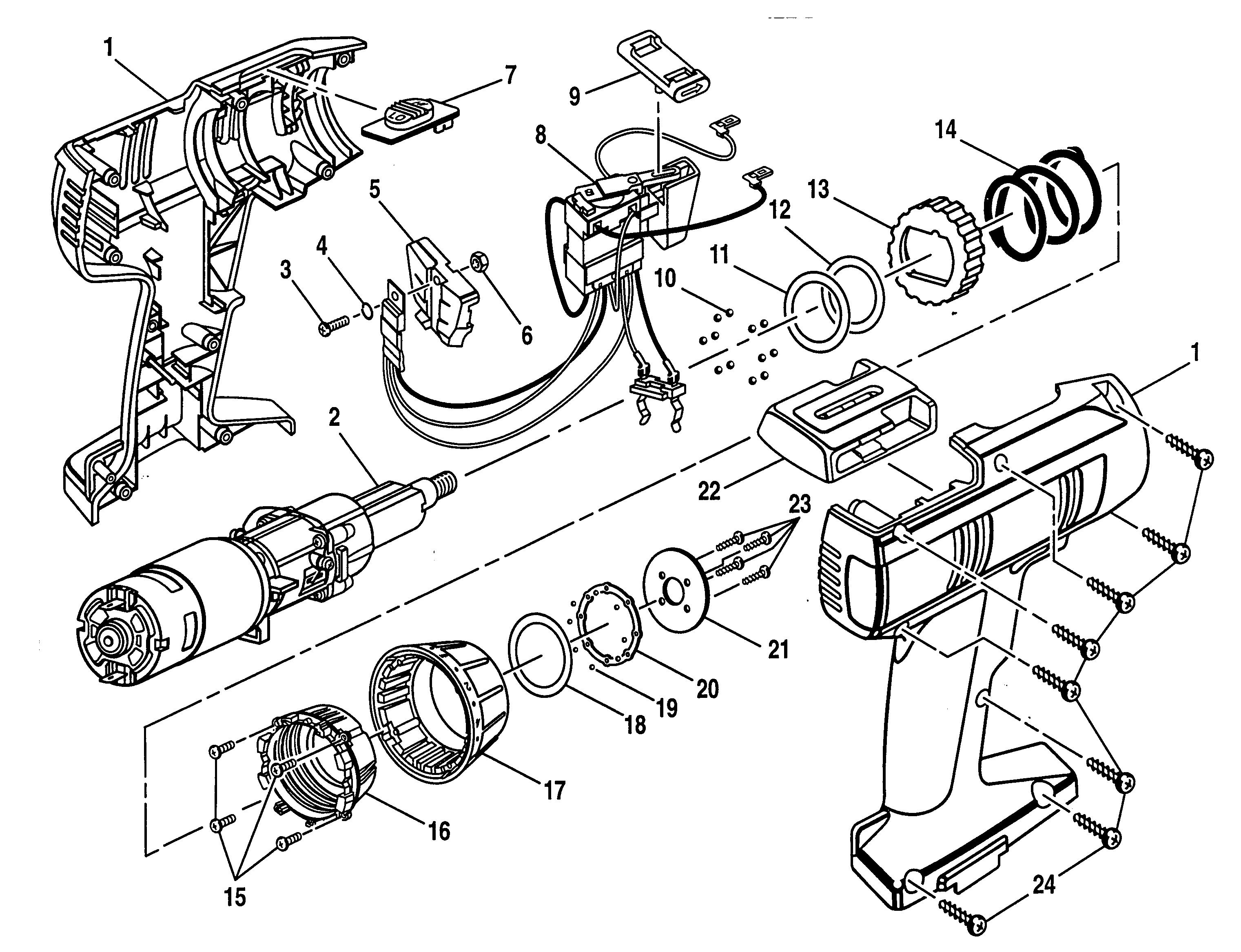 Craftsman model 973271351 drill driver genuine parts