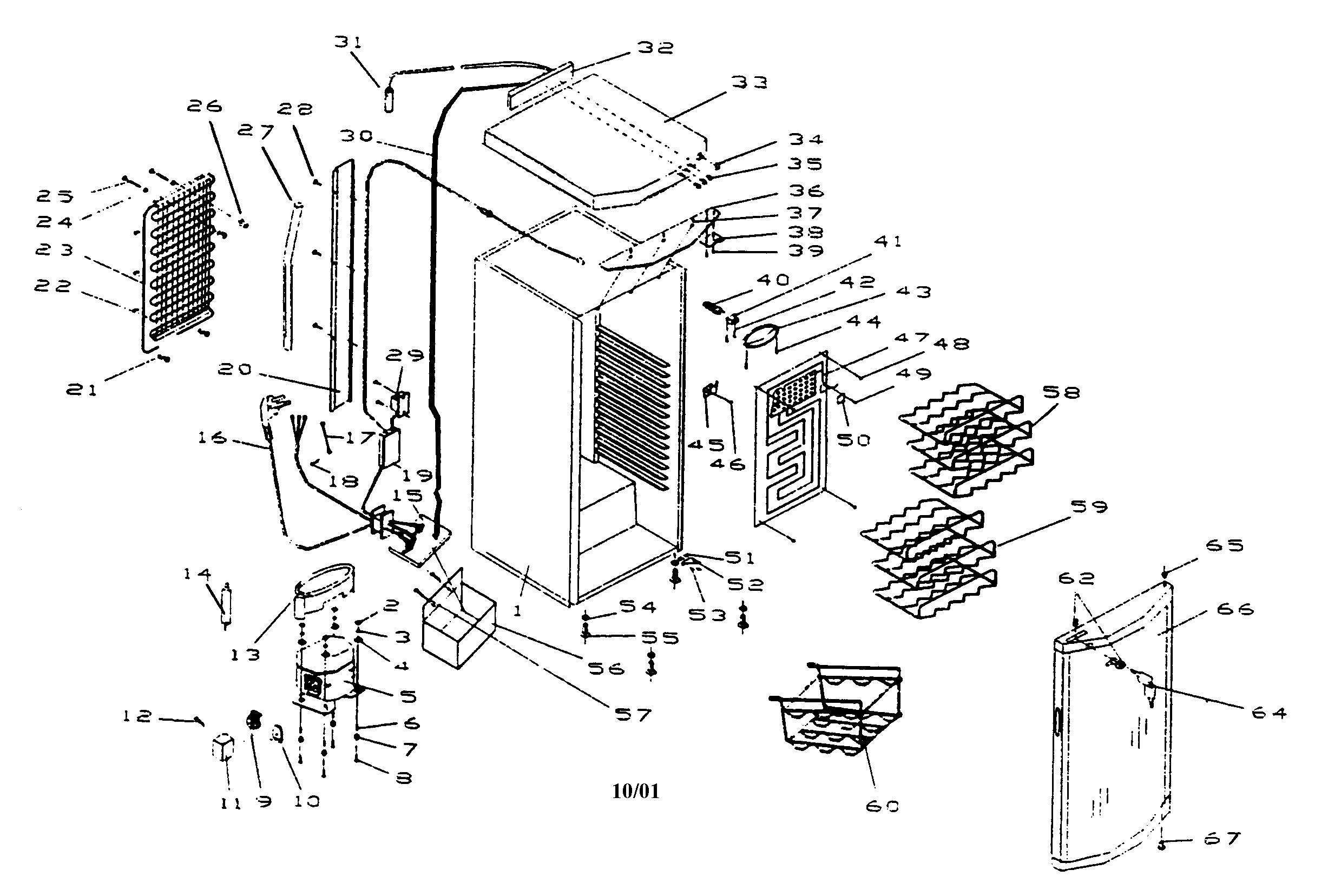 Haier model BWF30 wine cooler genuine parts