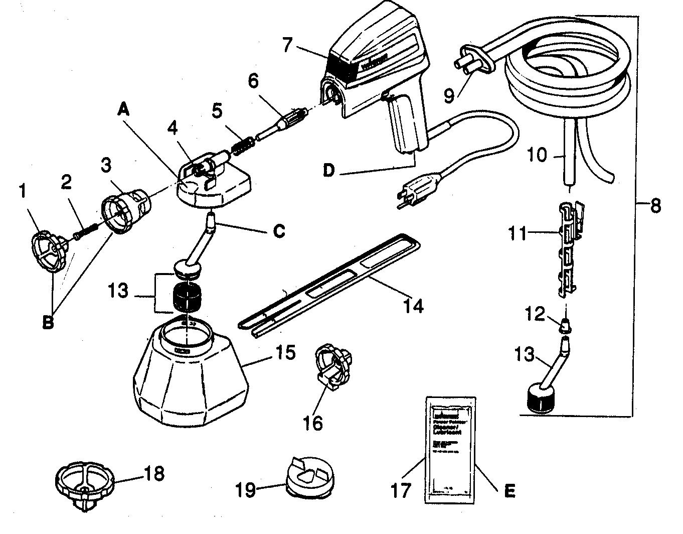 Wagner model 255 power sprayer genuine parts