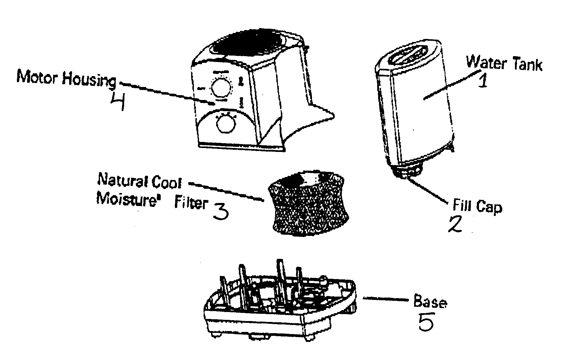 Honeywell model HCM-1010 humidifier genuine parts