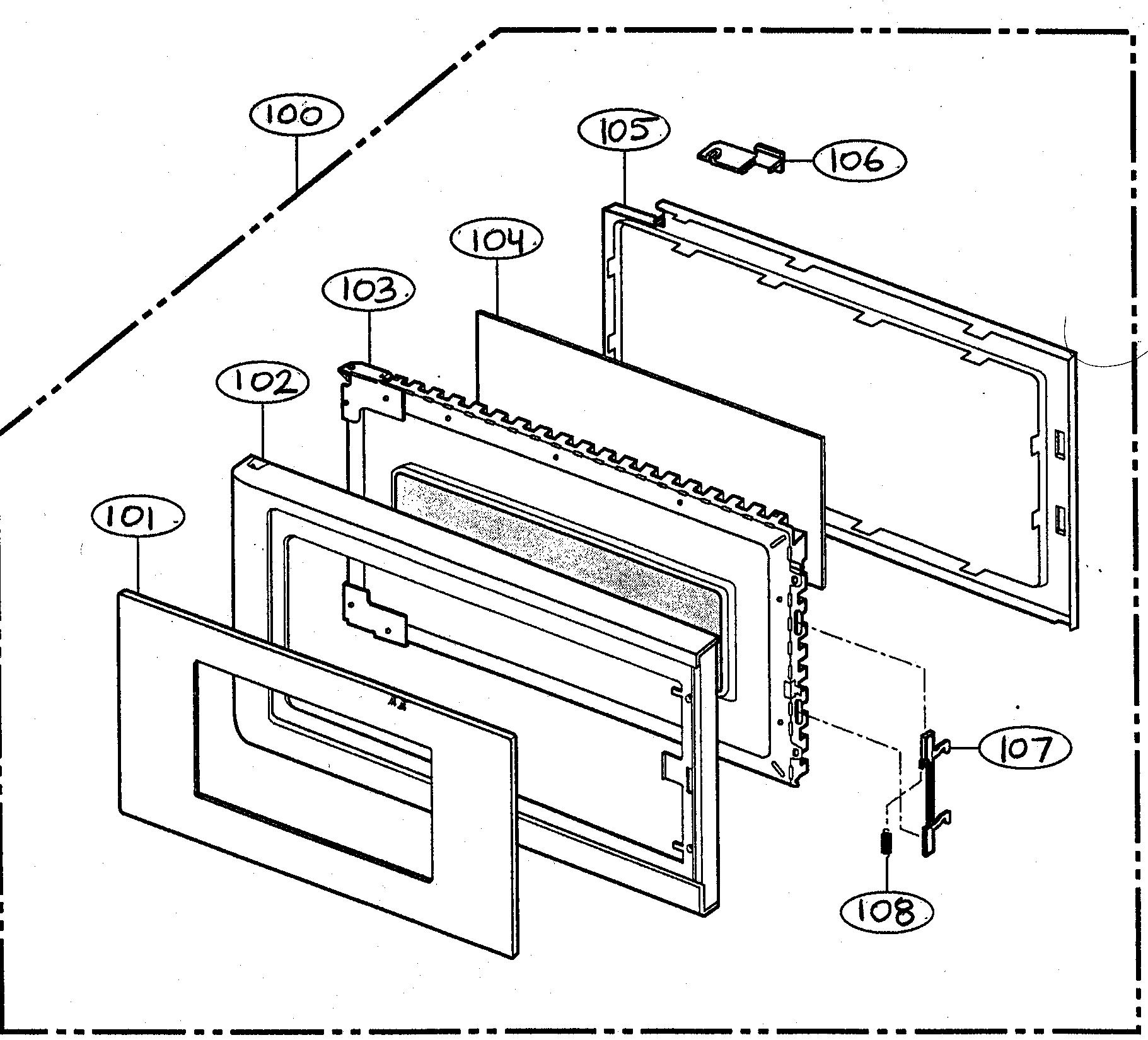 Goldstar model MV-1304W microwave/hood combo genuine parts