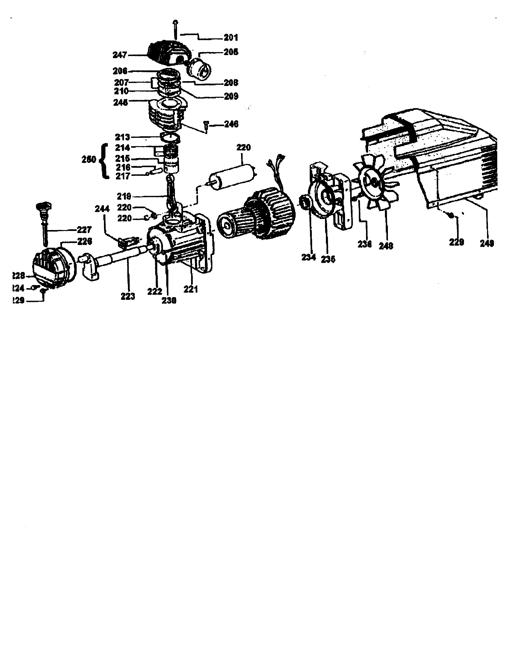 Dewalt model D55153 air compressor genuine parts