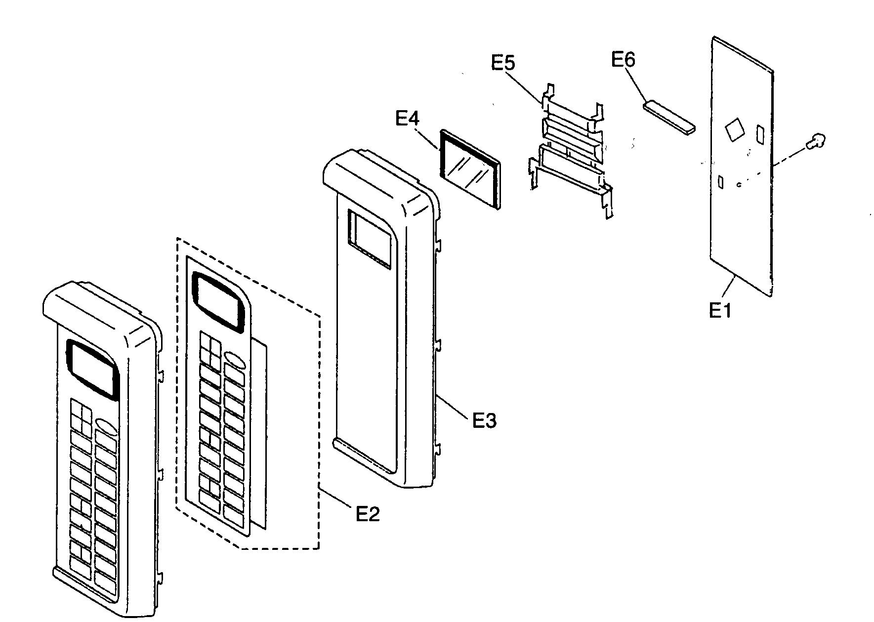 Panasonic model NN-S540BF countertop microwave genuine parts