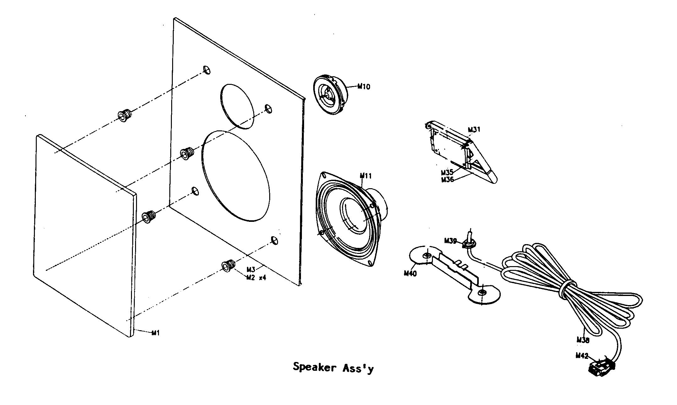 Nakamichi model SS5 speakers genuine parts