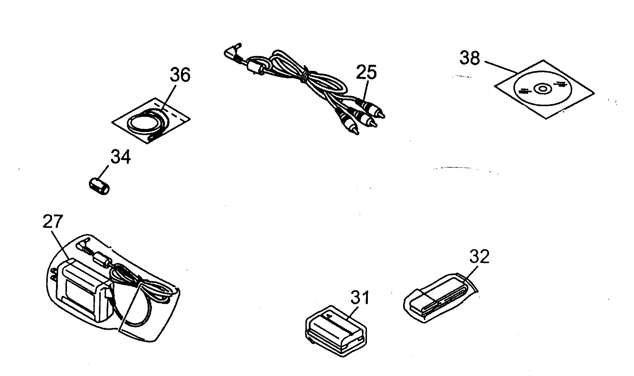 Jvc model GR-D30U digital camcorder genuine parts